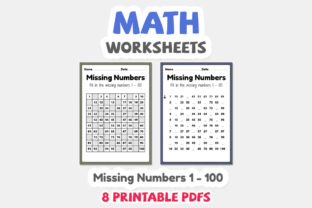 Math Worksheets of Missing Numbers - 4