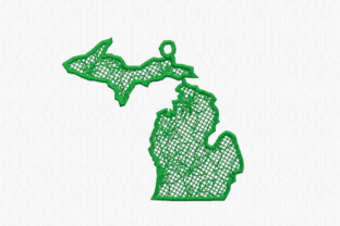 Michigan Free Standing Lace North America Embroidery Design By Scrappy Remnants