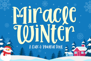 Print on Demand: Miracle Winter Display Font By Holydie Studio