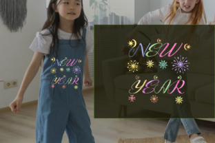 Print on Demand: New Year Colorful Star Holidays & Celebrations Embroidery Design By setiyadissi
