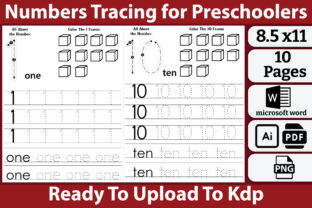 Numbers Tracing for Preschoolers Graphic Teaching Materials By kdpkawsarmia