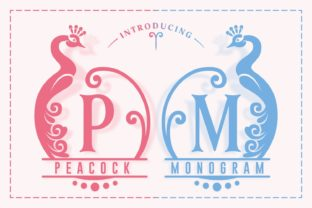 Print on Demand: Peacock Decorative Font By Dito (7NTypes) 1