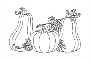 Pumpkins Thanksgiving Embroidery Design By NinoEmbroidery