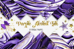 Print on Demand: Purple Ink Glitter Background Graphic Backgrounds By PinkPearly
