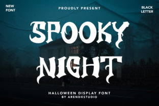 Print on Demand: Spooky Night Display Font By Arendxstudio