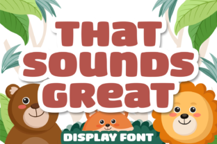 Print on Demand: That Sounds Great Display Font By Situjuh