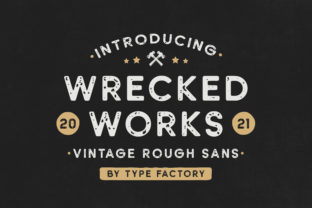 Print on Demand: Wrecked Works Display Font By TypeFactory