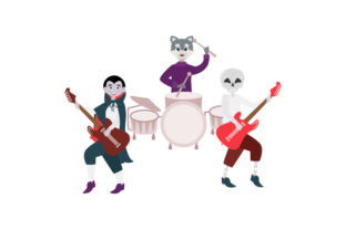 Rock Star Halloween Characters Halloween Craft Cut File By Creative Fabrica Crafts