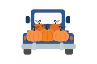 Farmhouse Truck Filled with Pumpkins Thanksgiving Craft Cut File By Creative Fabrica Crafts