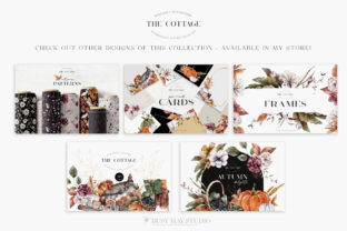 Print on Demand: Autumn Bouquet Creator DIY Watercolor Graphic Illustrations By Busy May Studio 6