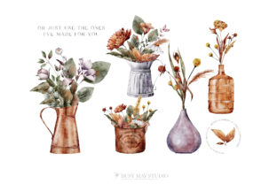 Print on Demand: Autumn Bouquet Creator DIY Watercolor Graphic Illustrations By Busy May Studio 5