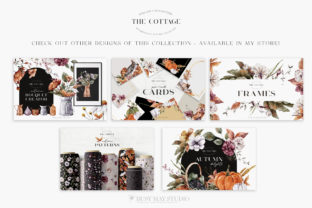 Print on Demand: Autumn Watercolor Collection Gold  PNG Graphic Illustrations By Busy May Studio 6