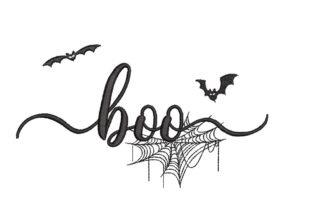 Print on Demand: Boo Halloween Embroidery Design By ArtEMByNatali