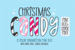 Print on Demand: Christmas Candy Display Font By BitongType