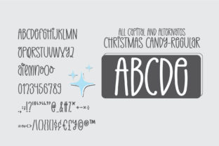 Print on Demand: Christmas Candy Display Font By BitongType 10