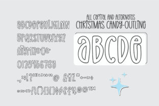 Print on Demand: Christmas Candy Display Font By BitongType 12