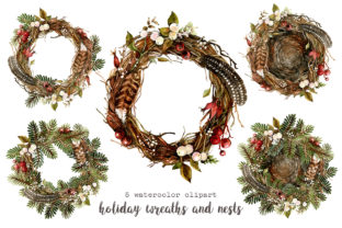 Print on Demand: Christmas Mouse Watercolor Cliparts PNG Graphic Illustrations By CherrypearStudio 6