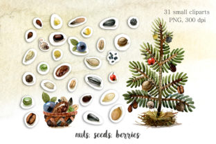 Print on Demand: Christmas Mouse Watercolor Cliparts PNG Graphic Illustrations By CherrypearStudio 7
