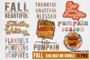 Print on Demand: Fall Sublimation Design Graphic Print Templates By Arinnnnn Design 1