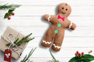 Gingerbread Boy Plush ITH Christmas Embroidery Design By DesignedByGeeks