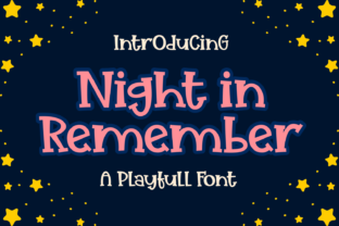Print on Demand: Night in Remember Display Font By Dreamink (7ntypes)