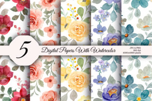 Seamless Pattern Floral Watercolor 159 - 1