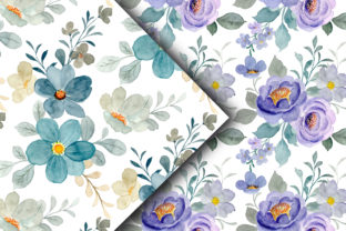 Seamless Pattern Floral Watercolor 159 - 2