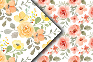 Seamless Pattern Floral Watercolor 159 - 3