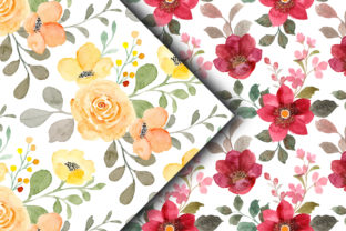 Seamless Pattern Floral Watercolor 159 - 4