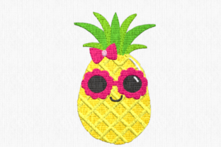 Sweet Pineapple Food & Dining Embroidery Design By Scrappy Remnants