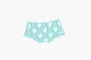 Underpants Clothing Embroidery Design By Scrappy Remnants