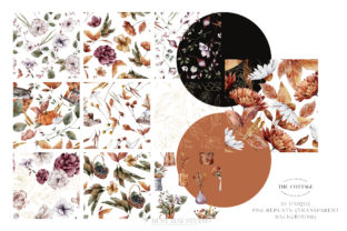 Print on Demand: Watercolor Autumn 30 Seamless Patterns Graphic Illustrations By Busy May Studio 5