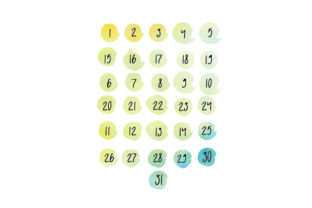 Watercolor Dates Stickers Planner Craft Cut File By Creative Fabrica Crafts
