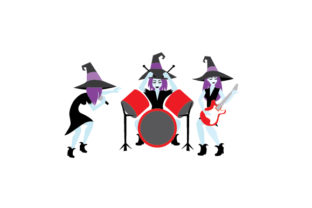 Rock Star Witches Halloween Craft Cut File By Creative Fabrica Crafts