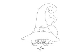 Cat Wearing Witch's Hat Halloween Craft Cut File By Creative Fabrica Crafts 2