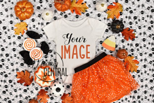 Baby Girl Fall Halloween Bodysuit Graphic Product Mockups By Mockup Central