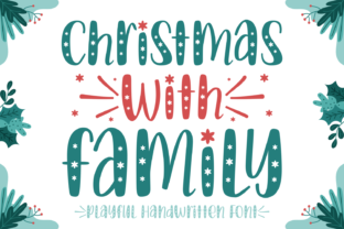 Print on Demand: Christmas with Family Display Font By Jasm (7NTypes)
