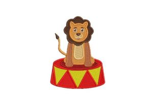 Circus Lion Circus & Clowns Embroidery Design By Embroidery Designs