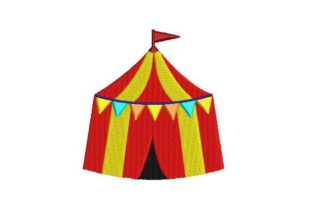 Circus Tent Circus & Clowns Embroidery Design By Embroidery Designs