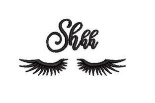 Closed Eyes with Big Eyelashes Beauty Embroidery Design By Embroidery Designs