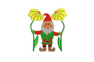 Cute Gnome Fairy Tales Embroidery Design By Embroidery Designs