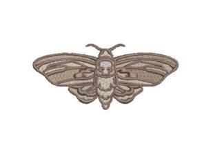 Death Head Moth Bugs & Insects Embroidery Design By Embroidery Designs