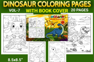 Print on Demand: Dinosaur Coloring Pages with Book Cover Graphic Coloring Pages & Books Kids By Simran Store