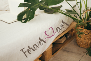 Print on Demand: Forever & Ever Lettering Wedding Quotes Embroidery Design By setiyadissi