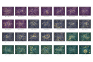Print on Demand: Gold Star Maps Graphic Textures By Digital Curio 4