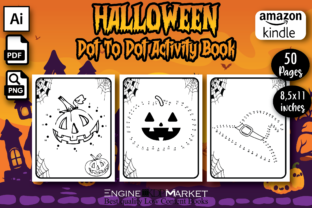 Halloween Dot to Dot Activity Book - Kdp Graphic KDP Interiors By Engine Kdp Market