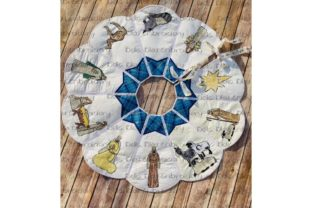 ITH Nativity Set Christmas Tree Skirt Christmas Embroidery Design By Bella Bleu Embroidery