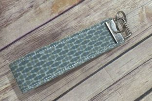 In the Hoop Blank Key Fob Wristlet Accessories Embroidery Design By Bella Bleu Embroidery