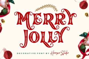 Print on Demand: Merry Jolly Decorative Font By HansCo 1