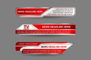 News Lower Thirds Template Design Graphic UX and UI Kits By majrinorrasyid